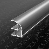 Алюминиевый профиль вертикальный для шкафов купе асимметричный MS 125