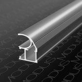 Алюминиевый профиль вертикальный для шкафов купе асимметричный MS 120