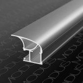 Алюминиевый профиль вертикальный для шкафов купе асимметричный MS 130